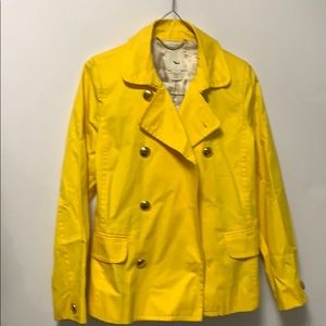 J CREW SPRING YELLOW JACKET GOLD BUTTON SIZE 8